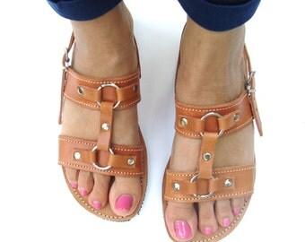 Greek Leather Sandal, Sandales Grecques, Strappy Sandals, Brown Sandals, Roman Sandals, Greek Leather Sandle, Spartan Sandals, Greeksandals
