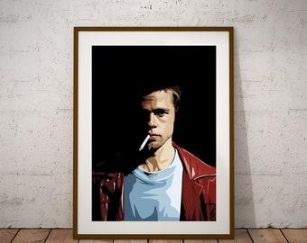 Fight Club, Tyler Durden illustraiton Poster