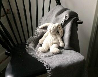 Linen Baby Blanket, Natural Linen Baby Blanket, Soft Linen Baby Blanket, Eco Friendly Baby Blanket, children's  Blanket, Baby Shower Gift