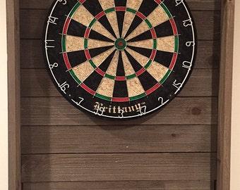 Barn wood dartboard