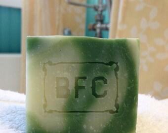 Basil + Lemon - Handcrafted Natural Artisanal Soap (Basil & Lemon Soap, Cold Process Soap, Litsea Soap, Natural Soap, Handcrafted Soap)