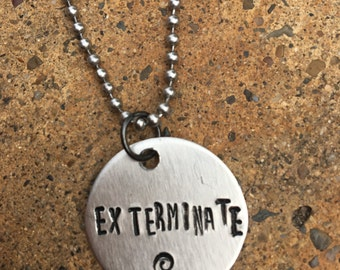 Exterminate necklace dr. who