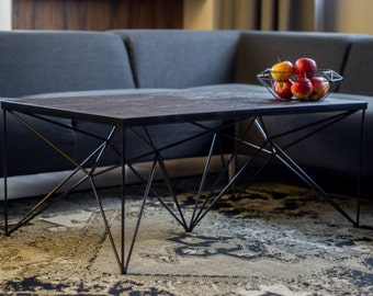 Reclaimed wood coffee table, Coffee table,  Rustic coffee table, farmhouse coffee table, metal coffee table, modern, industrial, oak