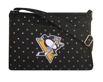 Pittsburgh Penguins Purse / NHL handbag / crossbody