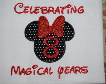 Sale!!! Celebrating minnie/minnie birthday/Disney birthday shirt/Minnie mouse birthday shirt/Magical Celebration Shirt