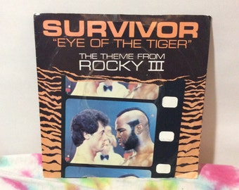 "Survivor 1982 45 rpm 7"" EP Vinyl Record Single Eye Of The Tiger The Theme From Rocky III UK Issue"
