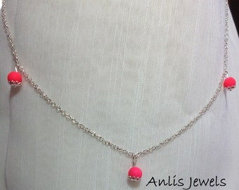 925 Sterling Silver Chain necklace with pearls
