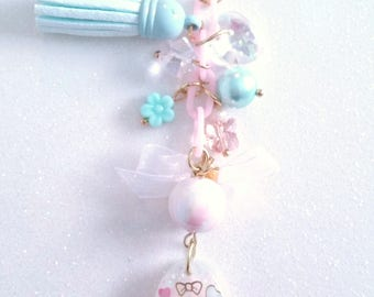 Blue Bow Hello Kitty Resin Phone charm