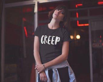 Creep T-Shirt,Creep Tee,Creepy Cute,Pastel Goth Top,Pastel Grunge Shirt,Novelty Shirt,Novelty Gifts,Kawaii Tops,Teen Girl Gifts,Workout Top