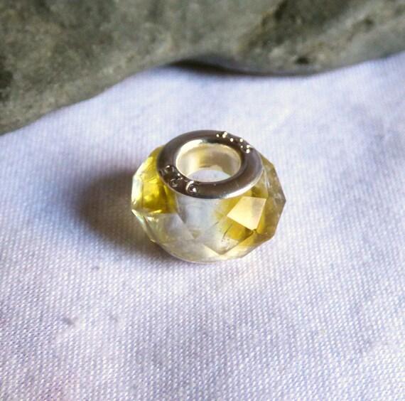 Seaglass Bead, Resin Charm, Sea Glass Charms, Crystal Resin, Seaglass Jewellery, Sea Glass Jewellery, Seaglass Resin, Bracelet Bead CD17017