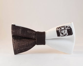 Mens Bowtie, Photographer BowTie, Camera Bow tie, Brown Bow tie, Unique Bow Ties,Photo BowTie, Photo gift, Photo bow tie, Creative gift