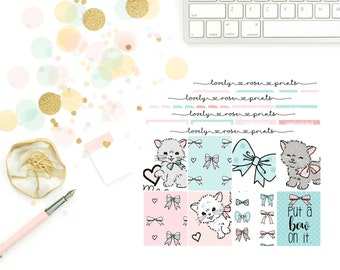 Kitty Cat Love White Space Vertical Weekly Kit