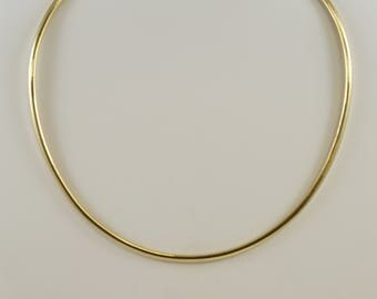 17 Inch 14k Yellow Gold 4mm Omega Necklace