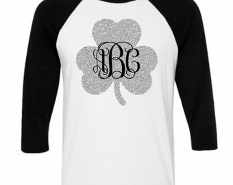 Monogram St. Patty's Day Raglan