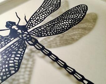 Handmade Papercut Dragonfly