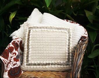 home decor/home/Macrame cushions/cushion covers/macrame beaded cushions/woven cushions/cotton cushion covers/macrame/croche cushion covers