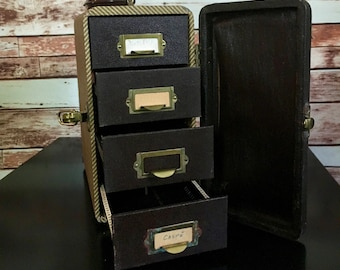 Barnett & Jaffe 1950's Baja Slide Case - 4 Drawers - Vintage Storage