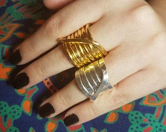 Boho Spiral Rings