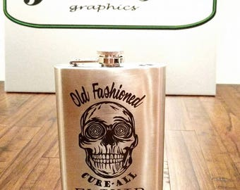 8oz Laser Engraved Flask