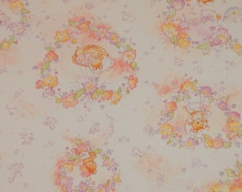 Vintage Ambassador   Hallmark Gift Wrap   Wrapping Paper   Baby Shower   Cute Little Mouse   Papercrafts or Scrapbook Paper