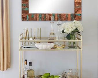Embossed Copper Mirror