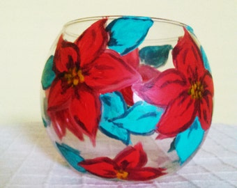 Sphere,Hand painted glass, Candle holder, Vase, Personal gift, Mothers day, Birthday gift