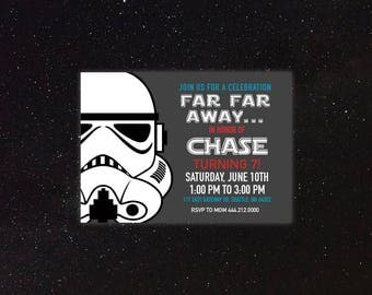 Star Wars - Storm Trooper - Birthday Invitation
