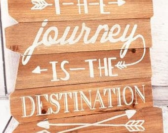 Wedding sign, table sign, the journey is the destination,custom sign,inspiring sign