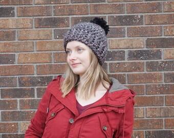 MADE TO ORDER Chunky Crochet Pom Pom Beanie Hat