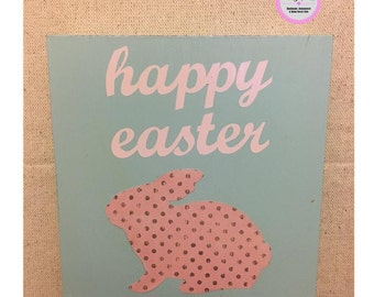 Happy Easter Bunny Sign, easter, bunny, cute bunny, bunny sign, rabbit, cute gift