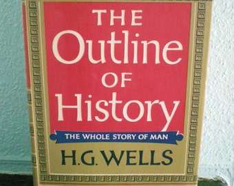 H.G. Wells History Book Vintage