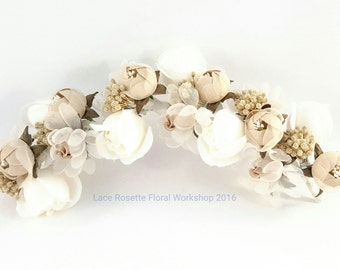 100% handmade silk flower hair clip