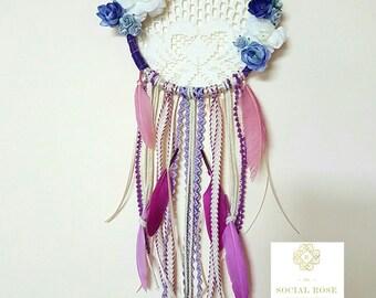 Lavender/Ivory Vintage Dream Catcher