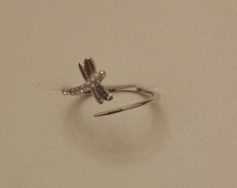 Adjustable Silver 925 with Dragonfly ring