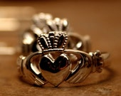 Men's Claddagh Ring - Silver