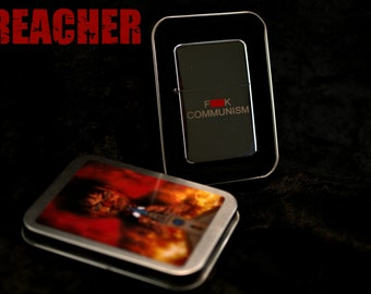 "Preacher ""F*ck Communism"" Lighter UK Comic Jesse Custer Garth Ennis Vertigo"