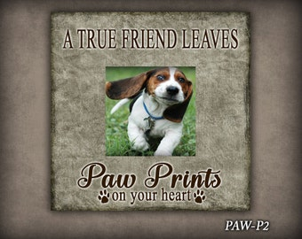 PAW: Dog Lover Frame, Photo Frame, Dog Photo Frame, Pet Photo Frame, Gift, Gift For Dog Lover, Memorial Dog Frame, Home Decor, Puppy Frame