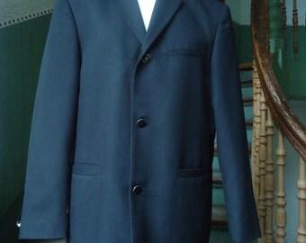 90 jacket true vintage men's jackets Blazers men's Ukraine black many inside pockets Gr. 48 suit
