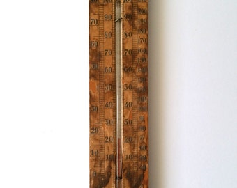 Beautiful old thermometer/beautiful old Brocante thermometer
