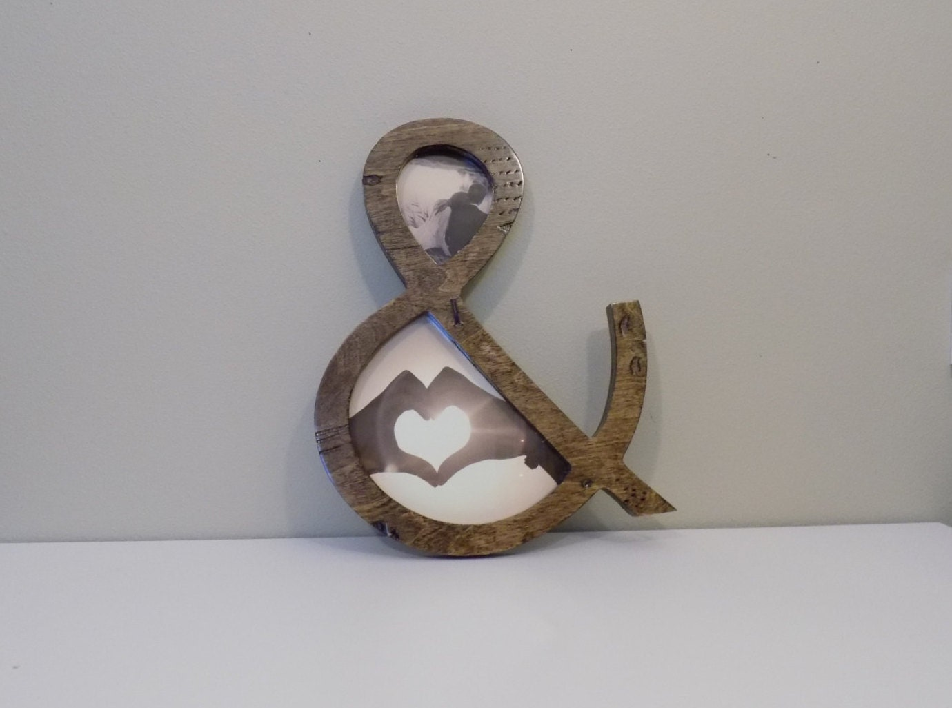 Ampersand picture frame from shapeco on etsy studio for Ampersand decoration etsy