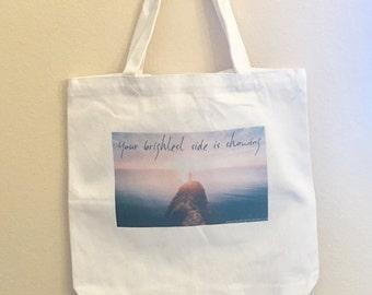 Inspirational Tote Bag Yoga Bag Grocery Bag