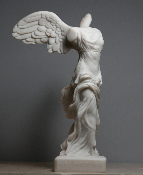 Winged Nike Victory Of Samothrace Greek Goddess Alabaster