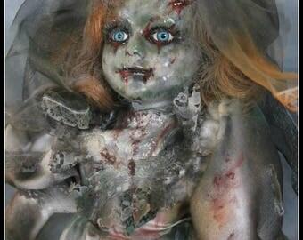 Ooak Corpse Bride Porcelain Doll Horror Zombie Macabre Artist Doll