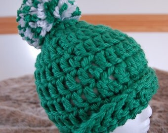 Shamrock Green Crochet Hat