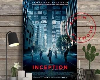 INCEPTION Movie - Poster on Wood, Christopher Nolan, Leonardo DiCaprio, Joseph Gordon-Levitt, Print on Wood, Birthday Gift, Gift for Her
