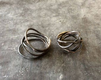 MADE TO ORDER Messy nest ring,messy nest ring,copper nest ring,nest ring,copper wrap ring,primitive wrap ring,rustic wrap ring