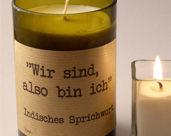 CANDLE SOY WAX Indian proverb