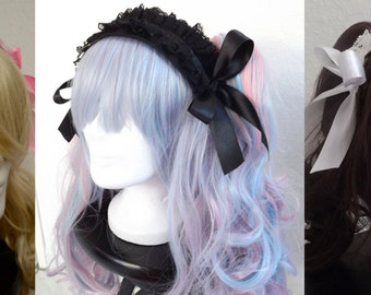 Headpiece sweet Gothic Lolita black white pink