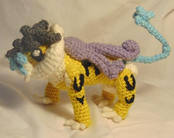 Raikou Amigurumi Pattern (Pokemon Downloadable PDF Crochet Pattern)