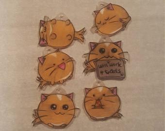 Cute cat stitch markers